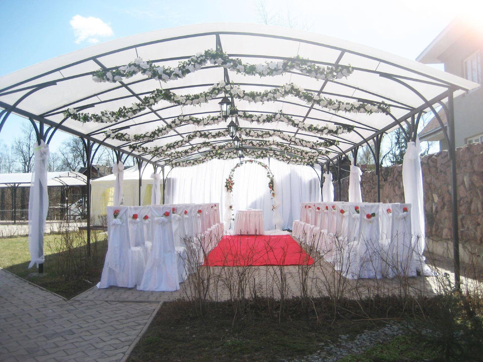 Навес для свадьбы на природе